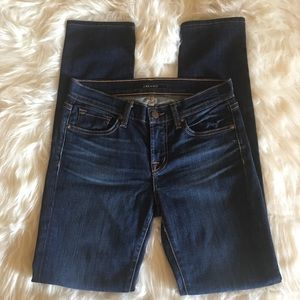 J Brand Mid Rise Stove Pipe Skinny Jeans 26